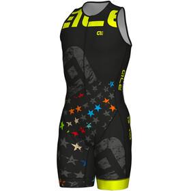 Alé Cycling Long Triathlon Stelle Skinsuit Men black-fluo yellow